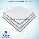 Comitati di alluminio di memoria di favo di colore bianco per la decorazione dell'ufficio
