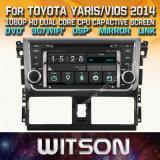 Witson Windows Multimedia de coche reproductor de DVD para Toyota Yaris Vios 2014 Nueva llegada