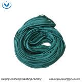 Venta caliente de la cuerda de poliéster de color verde para el calzado