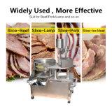 Alta affettatrice sanitaria e conveniente dell'affettatrice della carne di effetto del rifornimento totale, manzo di Forzen, lampada, affettatrice del porco