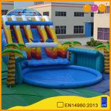 Thème de la forêt de l'événement de plein air Parc d'eau gonflable grande piscine et toboggan (aq3108)