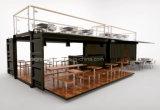 Het prefab Mobiele Restaurant van de Container van de Winkel van de Snack van de Verschepende Container