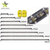 De hete Verkopende 14 Enige Rij van de Duim 30000hours IP68 60W 24 LEIDENE van de Volt Lichte Staaf
