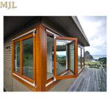 Bester Preis-neuer Entwurfs-plattierter hölzerner Aluminiumrahmen-Bifold Fenster