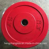 Crossfit Paragolpes de goma de colores olímpicos Barbell placa/Disco de peso