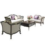 Классический кожаный диван с кофейным столиком и стороны стола (103)