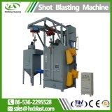 Gancho Granalhagem máquina utilizada na superfície da peça de aço inoxidável, gancho Granalhagem Máquina com Duas Rodas Blast