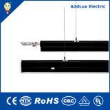 Profil en aluminium vers le haut et vers le bas LED Noir Feux linéaire de suspension