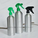 De kosmetische Fles van het Aluminium met de Groene Spuitbus van de Trekker