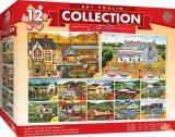 芸術のPoulinのコレクション-民芸12パックのジグソーパズル