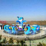 自制の平らな鮫の乗車を回す遊園地の乗車水ゲームグループの乗車