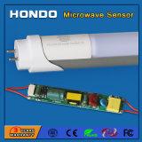 Indicatore luminoso 18W del tubo del sensore di movimento di microonda LED T8 G13 per illuminazione sotterranea del parcheggio