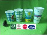 Двойной PE одноразовые холодный напиток мороженое бумаги чашки Custom печатной бумаги наружные кольца подшипников