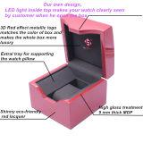 De nieuwe Doos van het Horloge van de Kleur van het Ontwerp Roze Enige Houten