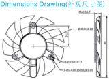 Kühlventilator des Gestell-Dz8015 des Ventilator-80*80*15 mm