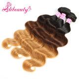 Ombreのモンゴルの毛の波のRemyの人間の毛髪の拡張