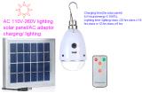 2,5 W luz de carga de bateria solar com 5 Classe de Iluminação
