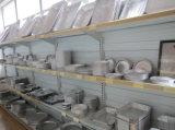 Papel de aluminio Recipiente con tapa plástica de la bóveda para llevar Vajilla Desechable envase de alimento