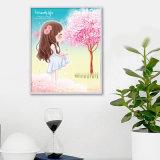 공장 직접 도매 새로운 아이들 DIY 수정같은 현대 꽃 벽 예술 화포 홈 훈장 K-033