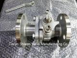 нержавеющая сталь 2PC служила фланцем шариковый клапан (Q41F-16P)