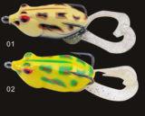 Gancho duplo com cauda suave sapo Pesca sapo atração de pesca