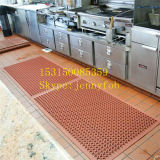 Precio de goma antirresbaladizo de la estera del suelo del garage durable del drenaje de Qingdao