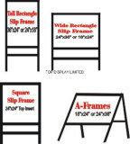 Het metaal een Frame ondertekent/Verkeer, OpenluchtRaad van Factoryequipment van de Tentoonstelling van de Koffie de Adverterende, Aanplakbord, Vertoning, Reclame, de Tribune van het Teken van het Neon van de Bevordering van de Banner