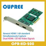 OPR-HD200はビデオキャプチャカード1080P HDMI 3Dの二倍になる