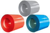 Uma bobina de aço com revestimento de cor