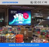 Video parete di P2.5mm LED per fisso nel negozio esente da dazio dell'aeroporto