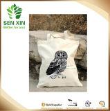 Saco da lona do algodão da impressão, saco de Tote relativo à promoção da compra