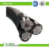 cable de aluminio liado aéreo del ABC del conductor del cable 0.6/1kv