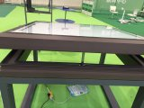 Guichet automatique en aluminium de tente avec la glace Inférieure-e