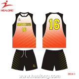 Uniformes del voleibol de la sublimación del desgaste del deporte del diseño de Healong China