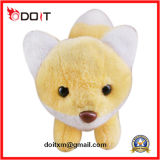 Amarelo animais taxidermizados Fox Soft recheado animais Fox