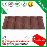 Feuille enduite de toiture de pierre en métal de couleur de prix usine