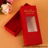 Складная бумажная коробка подарка с ясным окном PVC