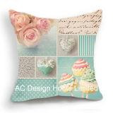 Квадратные свадебный Дизайн ткань подушка с заполнением