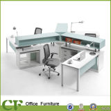 Tt Aluminium Frame 3 Seaters Bureau de design unique Office Workstation Desk