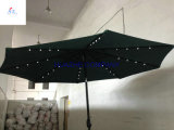 Solar LED Umbrellaの3m 10ft Round LED Umbrellaの庭のUmbrellaのテラスUmbrella Outdoor Umbrella