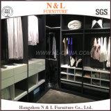 Mobília de madeira para a L-Forma do quarto Walik-no Wardrobe do armário