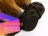 Het Braziliaanse Maagdelijke Haar van de Zaligheid van het Weefsel van het Menselijke Haar van Kleur Bruine 100% van het Haar