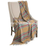 Woolen Pure New Plaid Wool Throw Blanket