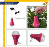 High Brightness 5W Solar Bulb Novo sistema de iluminação solar Home System Kit de iluminação com cabo USB