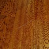 Plancher solide de bois dur de chêne de plancher en bois avec la couleur de blé