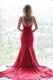 Frauen-Satin-Sleeveless Nixe-reizvolles Abend-Partei-Abschlussball-Kleid