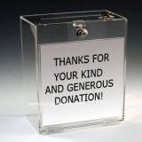 Venda por grosso de acrílico Caixa de doações de caridade com bloqueio (BTR-Y1006)