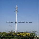 単一の管の鋼鉄マイクロウェーブ通信塔