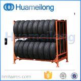 Rack de empilhamento de armazenamento de pneus de metal dobrável industrial