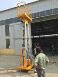 Elevador vertical do homem do mastro de alumínio hidráulico elétrico de pouco peso